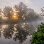 Early in the morning on the Udy river