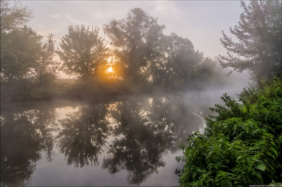 Early morning on the Udy river, Ukraine
