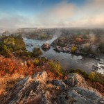 Wonderful autumn landscape – the Pivdennyi Buh river