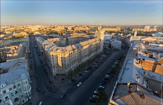 Kharkov city, Ukraine from above, photo 2