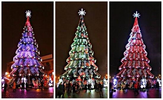 New Year's Tree 2015 on Freedom Square in Kharkov, Ukraine, photo 2
