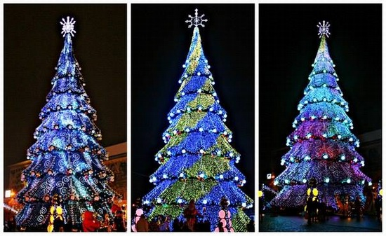 New Year's Tree 2015 on Freedom Square in Kharkov, Ukraine, photo 3