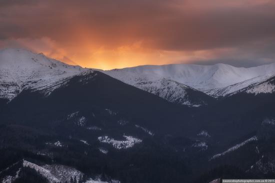 Dairy morning and caramel sunset in the Carpathians, Ukraine, photo 7