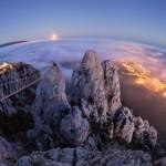 Moonrise over Mount Ai-Petri in Crimea