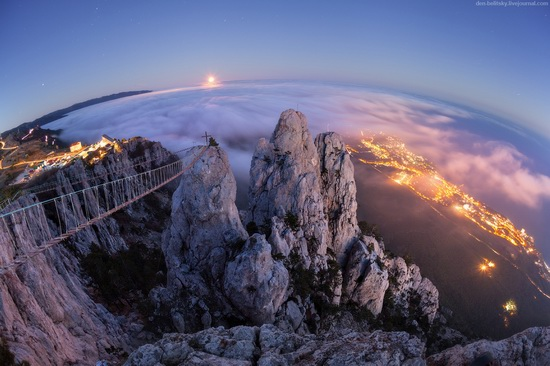Moonrise over Mount Ai-Petri, Crimea