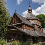 Old wooden church in Pirogovo museum