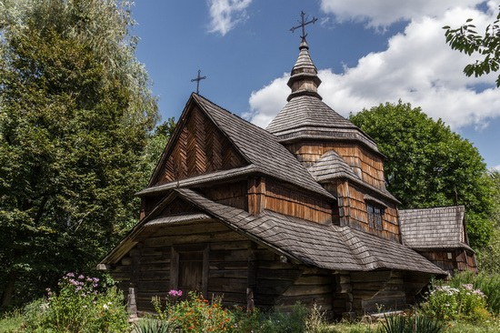 Old wooden church, Pirogovo museum, Ukraine