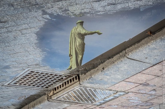 The reflections in the puddles of Odessa, Ukraine, photo 1