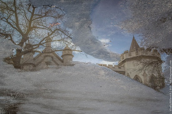 The reflections in the puddles of Odessa, Ukraine, photo 5