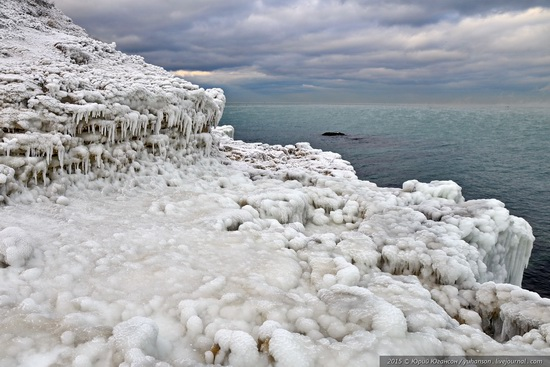 Ice age in Crimea - ice-bound Chersonese, photo 11