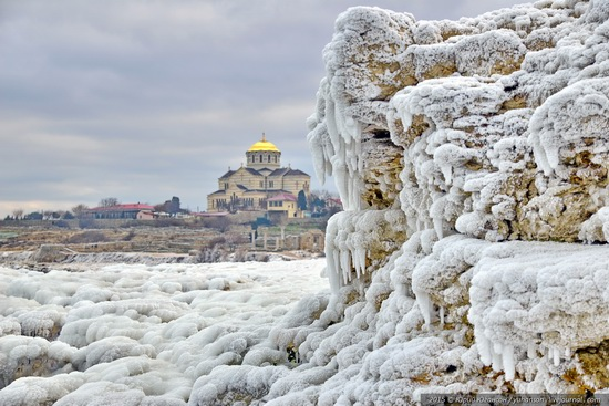 Ice age in Crimea - ice-bound Chersonese, photo 16