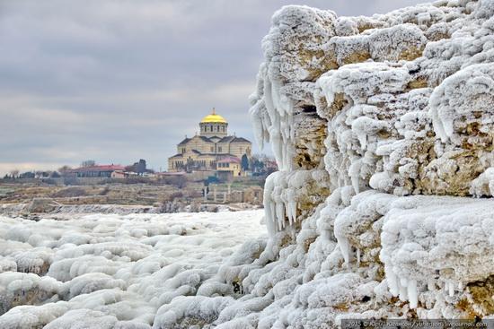 Ice age in Crimea - ice-bound Chersonese, photo 16