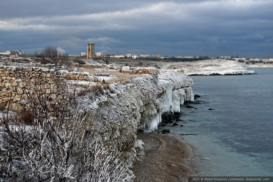 Ice age in Crimea - ice-bound Chersonese, photo 2