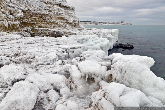 Ice age in Crimea - ice-bound Chersonese, photo 21