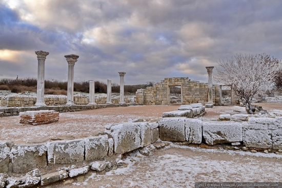Ice age in Crimea - ice-bound Chersonese, photo 6