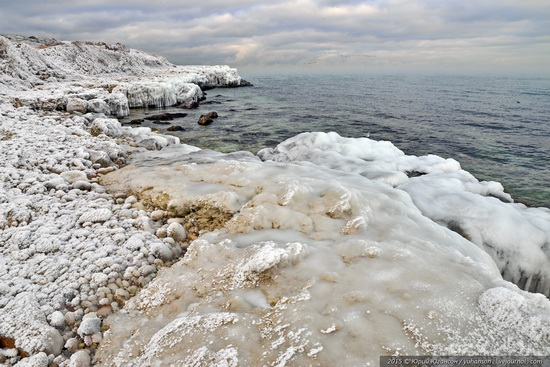 Ice age in Crimea - ice-bound Chersonese, photo 8