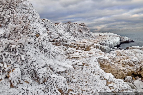 Ice age in Crimea - ice-bound Chersonese, photo 9