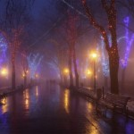 Mysterious views of Odessa in winter time