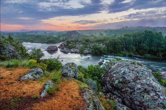 May morning, Southern Bug River, Nikolaev region, Ukraine