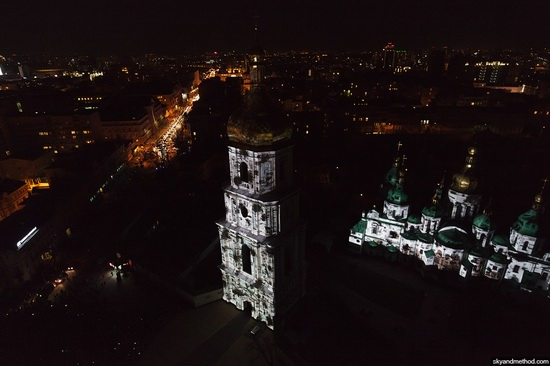 Light show at Sophia Square, Kyiv, Ukraine, photo 4