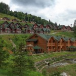 Bukovel ski resort in spring