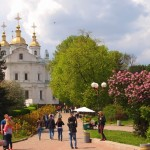 Walking through the streets of Poltava in spring