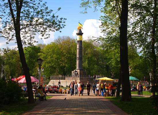 Poltava streets in spring, Ukraine, photo 12