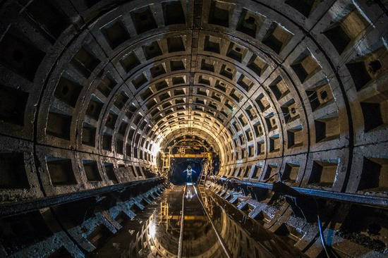 The catacombs of the unfinished subway, Dnepropetrovsk, Ukraine