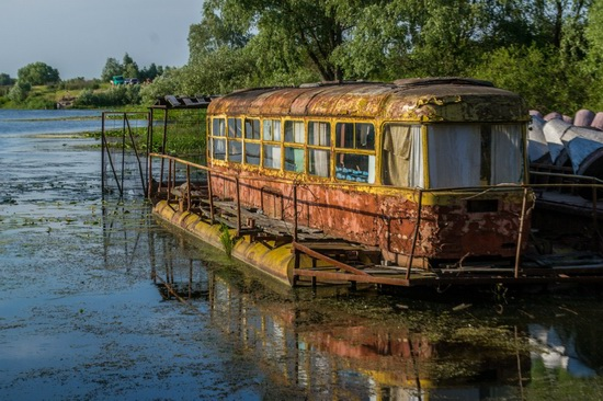 Abandoned river tram, the Desna River, Kyiv region, Ukraine, photo 1