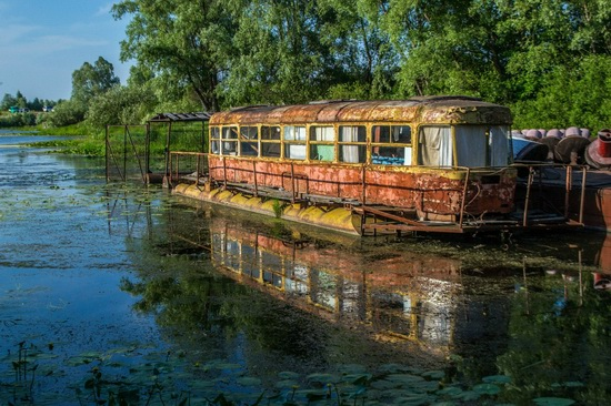 Abandoned river tram, the Desna River, Kyiv region, Ukraine, photo 2