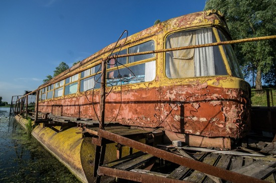 Abandoned river tram, the Desna River, Kyiv region, Ukraine, photo 8