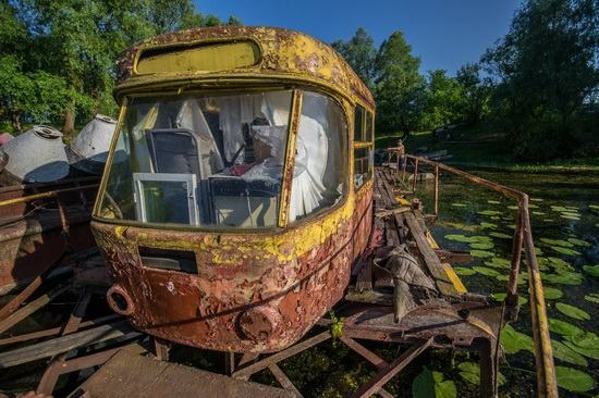Abandoned river tram, the Desna River, Kyiv region, Ukraine, photo 9
