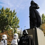 The monument to Darth Vader was unveiled in Odessa