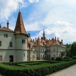 The castle-palace of the Counts Schonborn near Mukachevo