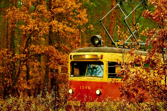 Autumn, the Kyiv Tram, Ukraine, photo 4