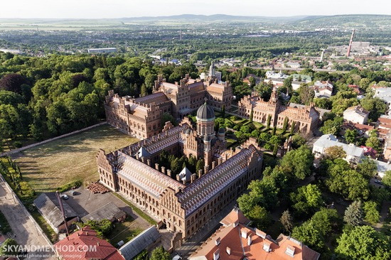 Chernivtsi National University - a view from above, Ukraine, photo 1