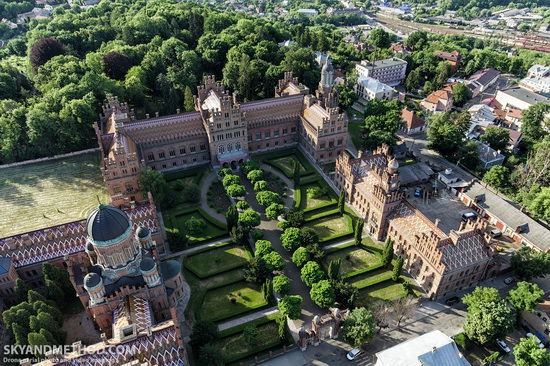 Chernivtsi National University - a view from above, Ukraine, photo 2