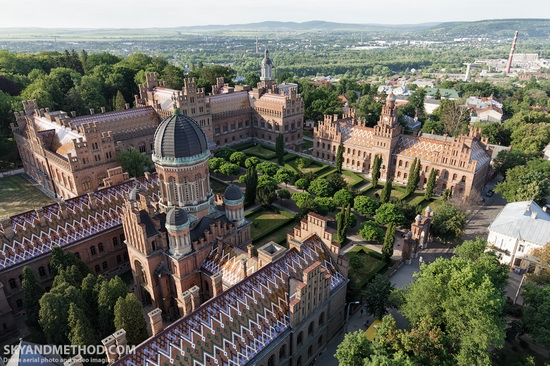 Chernivtsi National University - a view from above, Ukraine, photo 3
