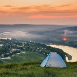 Summer Evening on the Dniester River