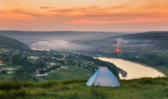 Summer evening on the Dniester River, Ternopil region, Ukraine, photo 1