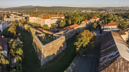 Uzhgorod Castle from above, Ukraine, photo 1