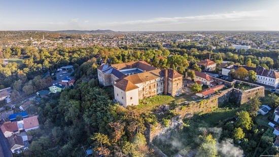 Uzhgorod Castle from above, Ukraine, photo 2