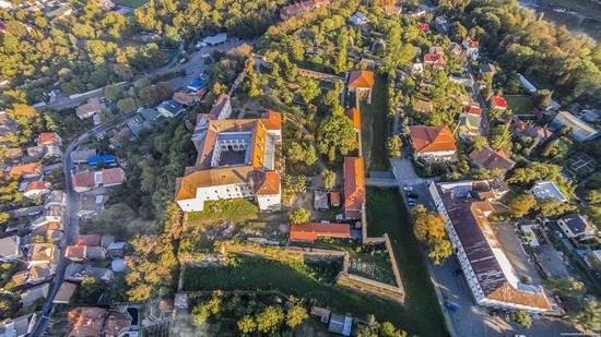 Uzhgorod Castle from above, Ukraine, photo 3