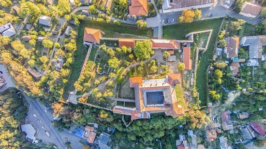 Uzhgorod Castle from above, Ukraine, photo 6