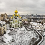 Pokrovsky Convent in Kyiv from above