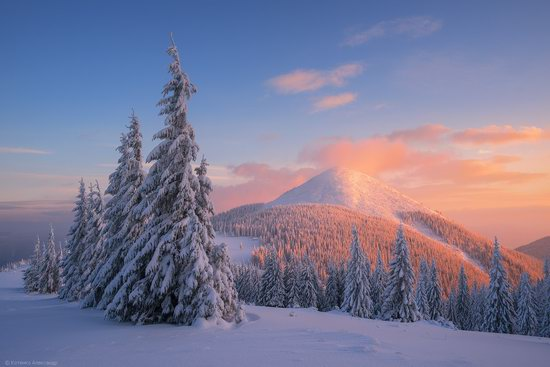 The mountain ranges of Gorgany in winter, Carpathians, Ukraine, photo 19