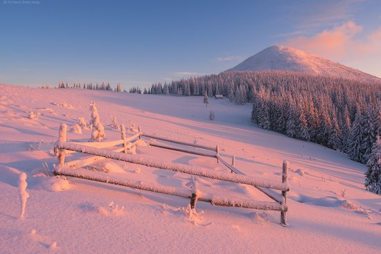 The mountain ranges of Gorgany in winter, Carpathians, Ukraine, photo 20