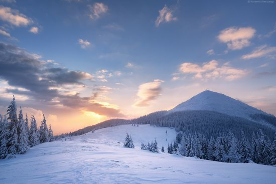 The mountain ranges of Gorgany in winter, Carpathians, Ukraine, photo 8
