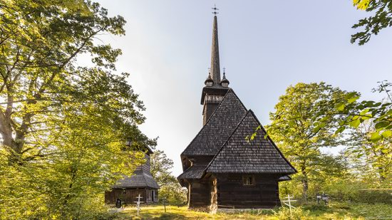 Gothic wooden church in Danilovo, Zakarpattia region, Ukraine, photo 11