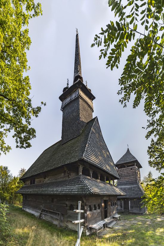 Gothic wooden church in Danilovo, Zakarpattia region, Ukraine, photo 12